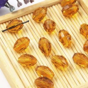 Beads, Auralescent Crystal, Crystal, Brown , Faceted Oval, 8mm x 8mm x 12mm, 1 bead [Sold Individually], [ZZC255]